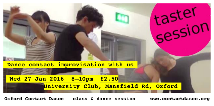 Attend a taster session for contact improvisation